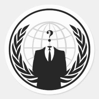 匿名の国際的なステッカー ラウンドシール
