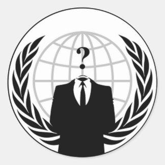匿名の旗の円形のステッカー ラウンドシール