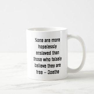 匿名の海賊とのGoetheの引用文 コーヒーマグカップ