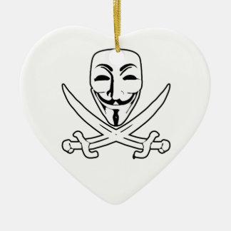 匿名の海賊 セラミックオーナメント
