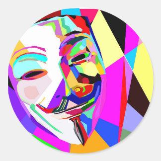匿名の虹 丸形シール・ステッカー