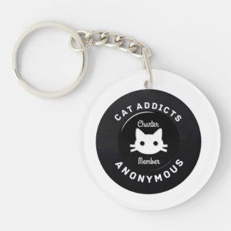 匿名猫の常習者 キーホルダー