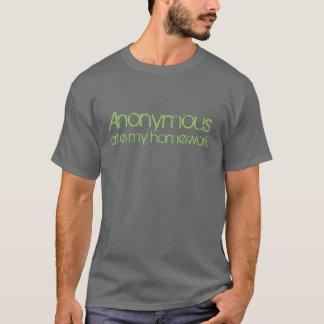 匿名私の宿題を食べました! Tシャツ