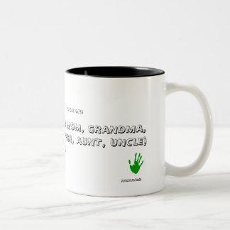 匿名、ベスト(パパ、お母さん、祖母、…です ツートーンマグカップ