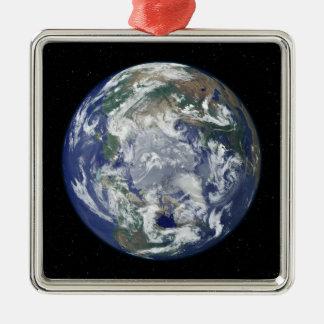 十分につけられた地球は北極に集中しました メタルオーナメント
