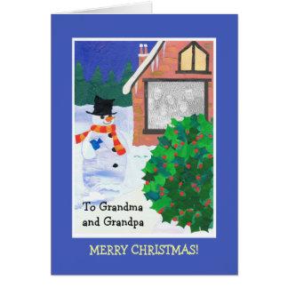 十分にカスタマイズ可能なクリスマスの写真カード、雪だるま カード