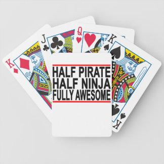 十分に半分の忍者の半分の海賊awesome.png バイスクルトランプ