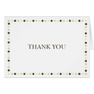 十分に喜びの緑のノートありがとう カード