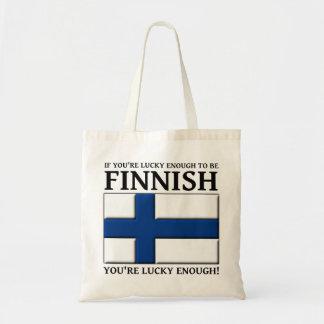 十分に幸運フィンランドのバッグのトートがあるため トートバッグ