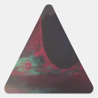 十分に明るい世界の色の 三角形シール