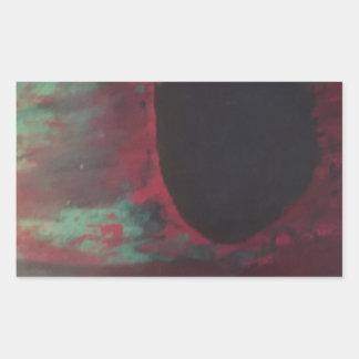 十分に明るい世界の色の 長方形シール
