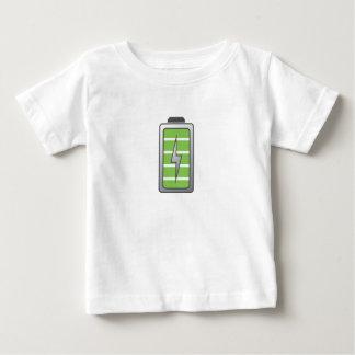 十分に満たされた電池 ベビーTシャツ