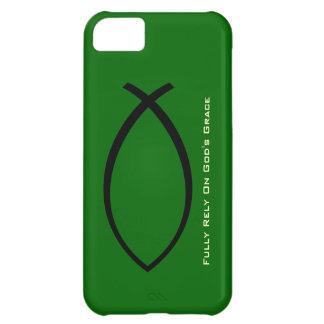 十分に頼って下さいに神の優美のiPhone 5の場合(緑) iPhone5Cケース