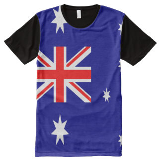 十分のオーストラリアの旗 オールオーバープリントT シャツ