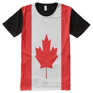 十分のカナダの旗 オールオーバープリントT シャツ