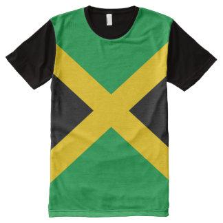 十分のジャマイカの旗 オールオーバープリントT シャツ