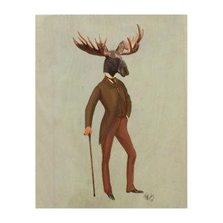 十分のスーツのアメリカヘラジカ ウッドウォールアート