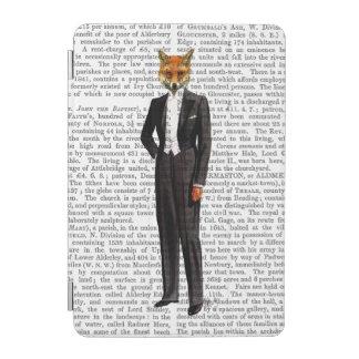 十分の夕べのスーツのキツネ iPad MINIカバー