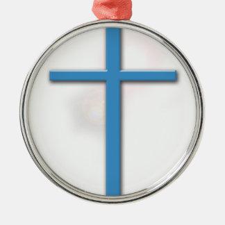 十字およびジョンの3:16 メタルオーナメント