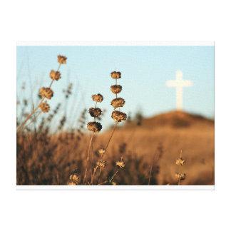 十字およびブラシのキャンバス キャンバスプリント