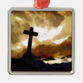 十字および空 メタルオーナメント