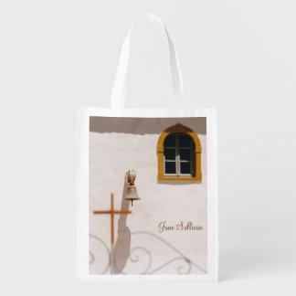 十字および鐘が付いているギリシャ教会 エコバッグ