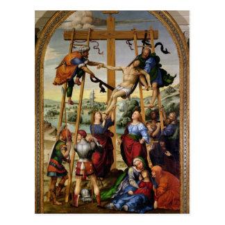 十字からの降下、c.1505-10 ポストカード