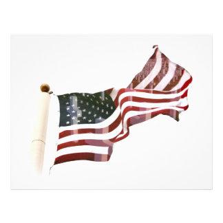 十字が付いている米国旗 チラシ