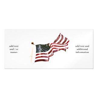 十字が付いている米国旗 マグネットカード