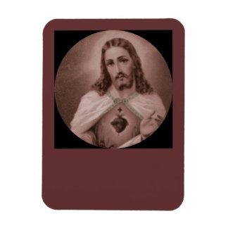 十字との神聖なハート マグネット