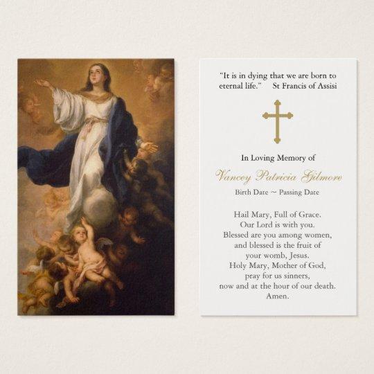 十字との葬儀の祈りの言葉カード仮定メリー 名刺
