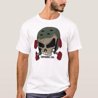十字のアクセルのスカル Tシャツ