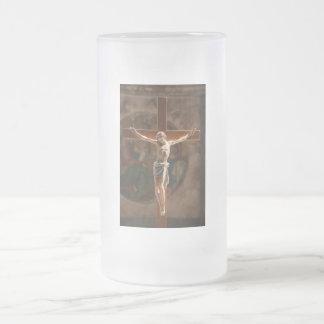十字のイエス・キリスト フロストグラスビールジョッキ