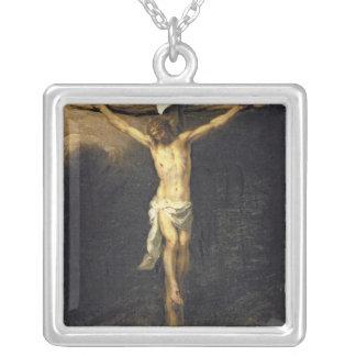 十字のキリスト、1672年 シルバープレートネックレス