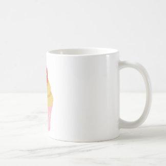 十字のステッチのいちごのカップケーキ コーヒーマグカップ