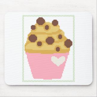 十字のステッチのチョコレートチップスのマフィン マウスパッド