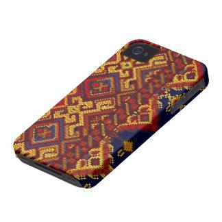 十字のステッチパターンiPhone 4/4Sのやっとそこに場合 Case-Mate iPhone 4 ケース