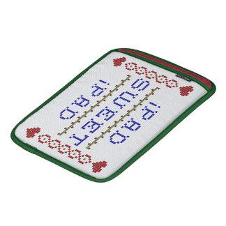 十字のステッチ- iPadの菓子のiPad iPadスリーブ