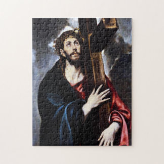 十字のパズルを運んでいるEl Grecoキリスト ジグソーパズル