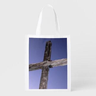 十字の再使用可能な買い物袋 エコバッグ