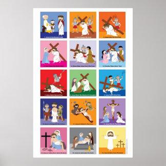十字の幸せな聖者の方法 ポスター