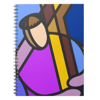 十字の抽象芸術のキリスト ノートブック
