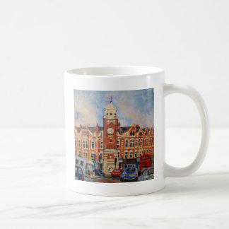 十字の町の交通 コーヒーマグカップ
