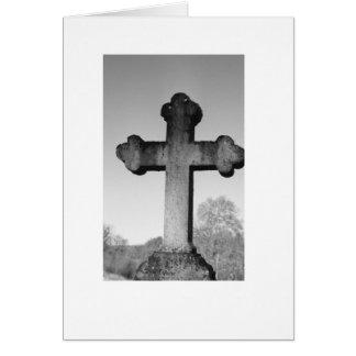 十字の石造りカード カード