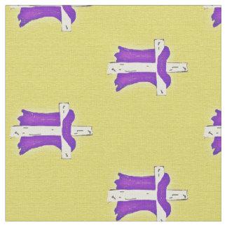 十字の紫色ローブ ファブリック
