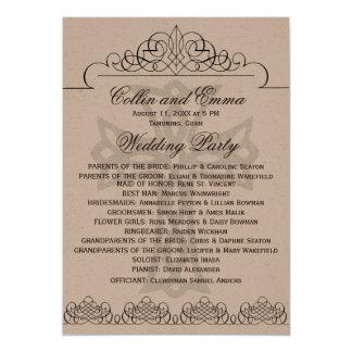 十字の結婚式プログラム 12.7 X 17.8 インビテーションカード