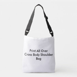 十字の遺体袋をくまなくDIYのプリント クロスボディバッグ