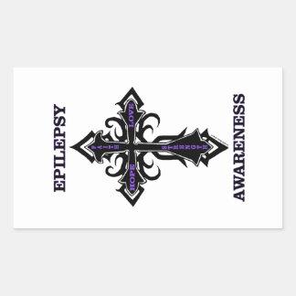 十字または認識度の…癲癇 長方形シール