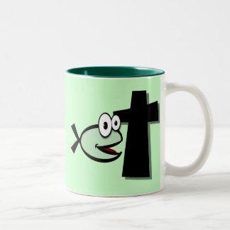 十字をあなたの監視して下さい ツートーンマグカップ