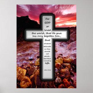 十字ポスター-ジョンの3:16 ポスター